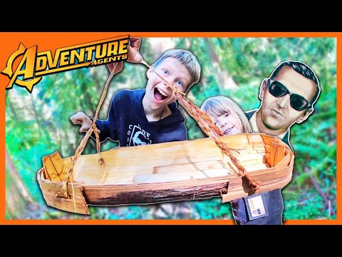 Making Primitive Survival Basket From Cedar Bark While Searching for DB Cooper Clues