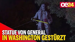 Statue von Südstaaten-General in Washington gestürzt