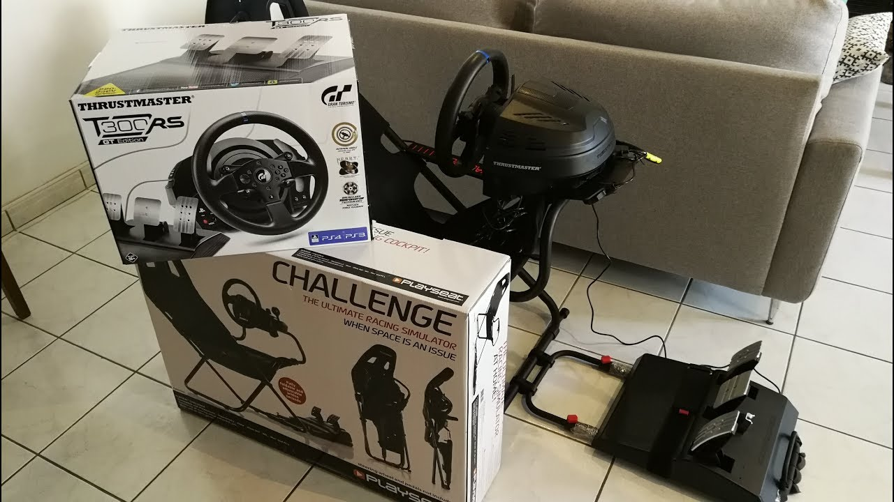 Playseat challenge + Thrustmaster T300RS GT VS edition logitech G29