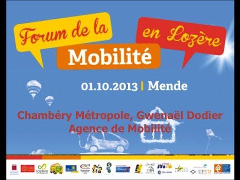 """Forum de la Mobilité en Lozère 2013 - Chambéry Métropole """"Agence de mobilité"""""""