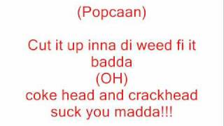 Vybz Kartel Ft. Popcaan - Hot Grabba (LYRICS)