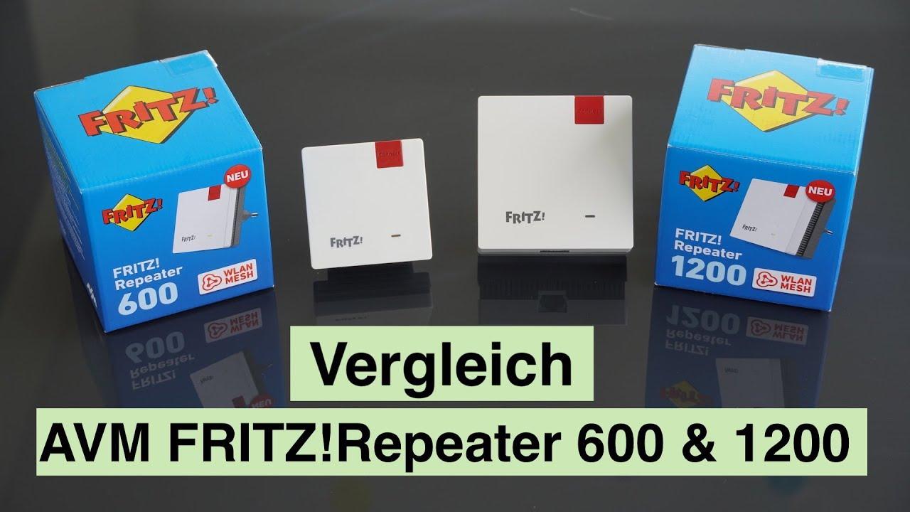 Vergleich AVM FRITZ WLAN Repeater 20 & 20