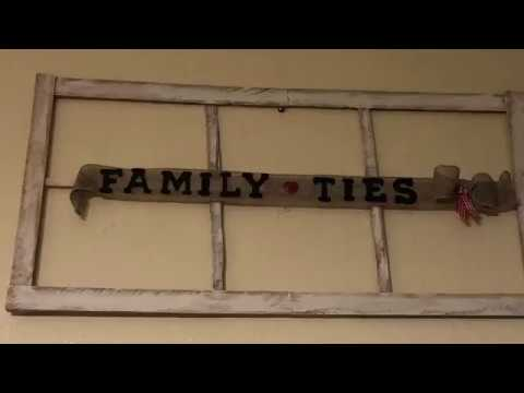 DIY Cedar window frame l crafts l Farmhouse l Family Ties