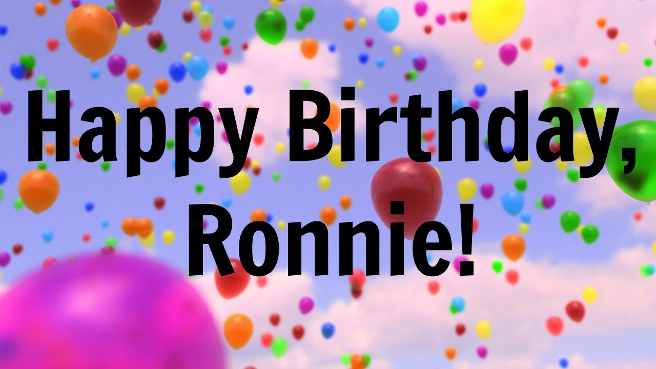Happy Birthday Ronnie Birthday Cake