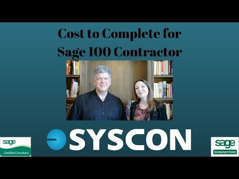 Cost to Complete for Sage 100 Contractor