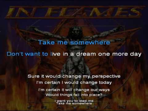In Flames - Come Clarity - Lyrics on screen