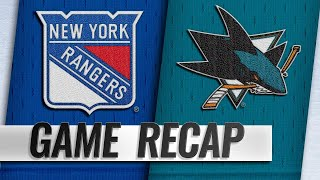 Rangers prevail against Sharks in wild SO win