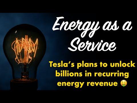 Tesla Energy As A Service