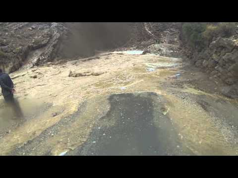 Todra Gorge flood waters too high to cross
