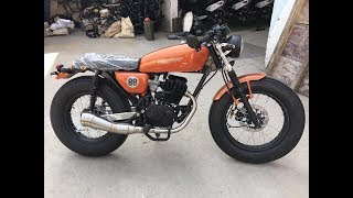 Shelby Cafe Racer 150 full review speed test Lahore Pakistan