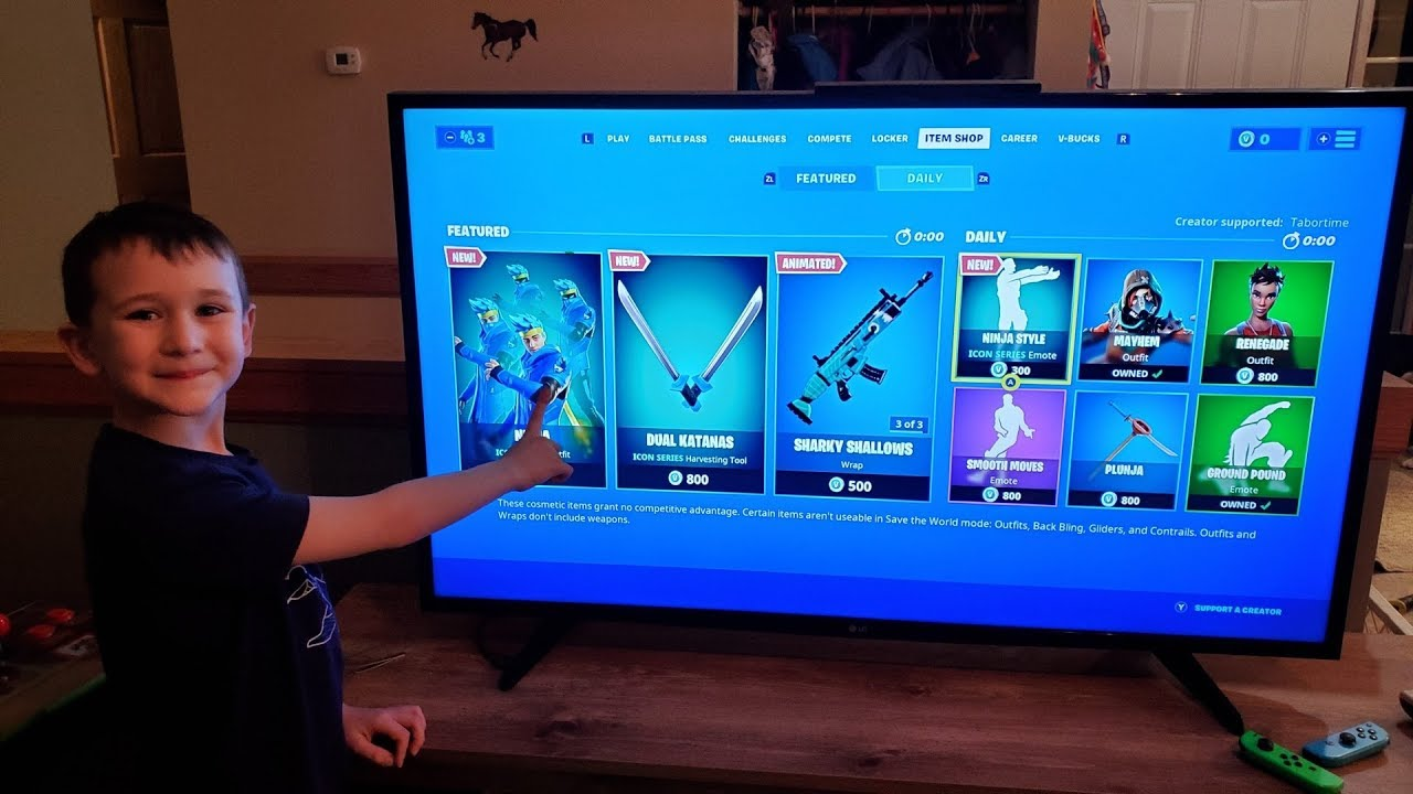 Ninja Reacts To His Skin In Fortnite My Son S Reaction To The New Ninja Skin In Fortnite Youtube