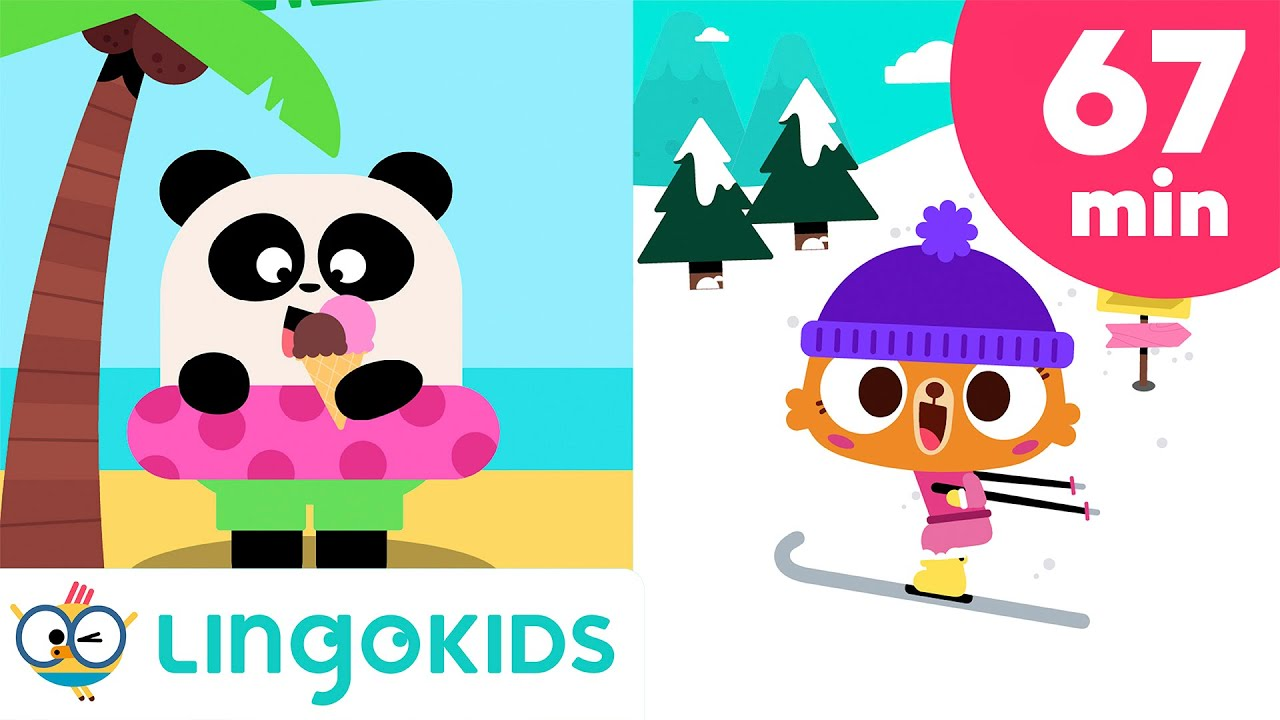 Seasons of the Year Songs ?☀️?❄️ + Nature Songs for Kids | Lingokids