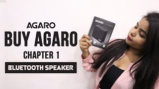 Best Bluetooth Wireless Speaker Review || AGARO Chapter One Portable Bluetooth Speaker with Mic ||