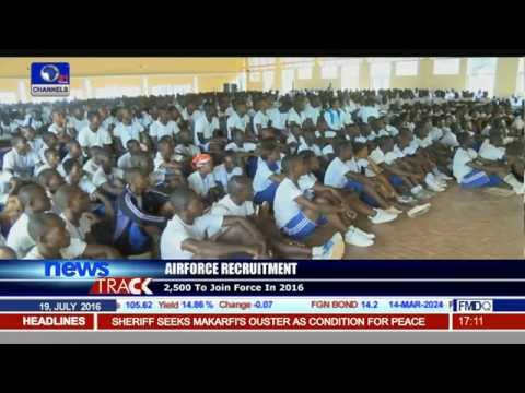 Candidates Appear For Air Force Recruitment