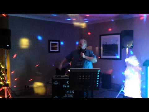Kevin doing karaoke