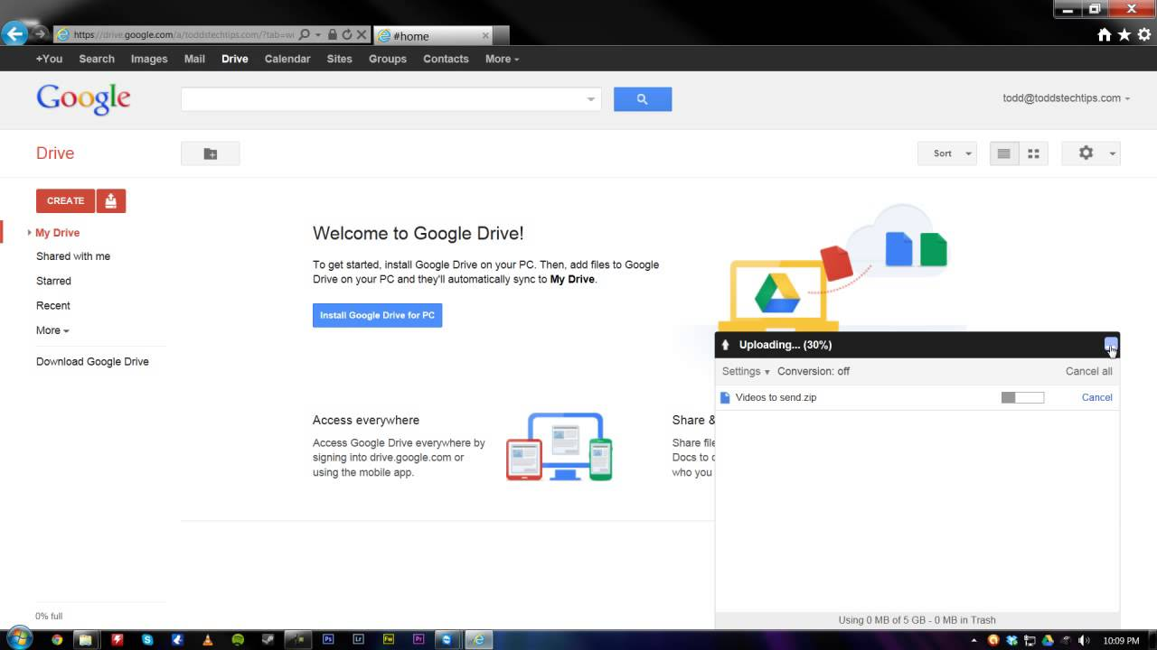 Send pictures using google drive