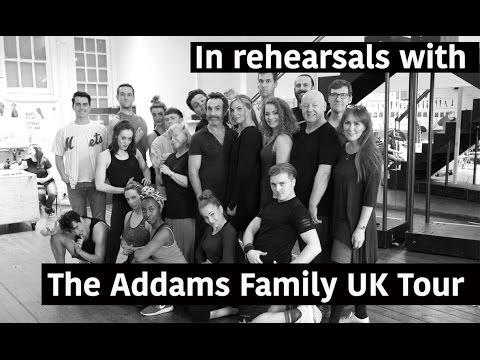 In Rehearsal with The Addams Family UK Tour