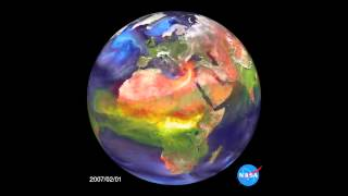 NASA Animation Shows Asian Air Pollution Moving Across the Globe