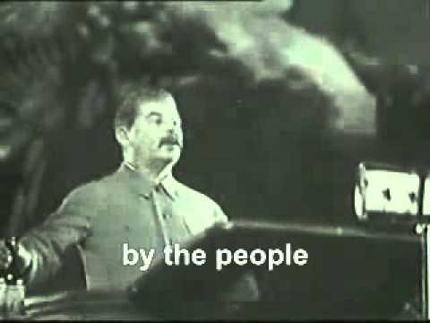 Stalin Giving a Speech