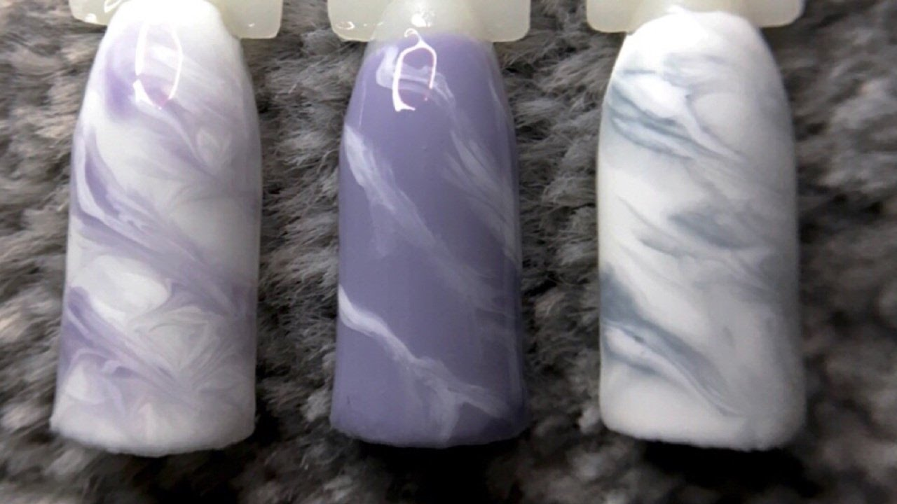 Super Easy Marble Gel Nail Art Design No Sharpies Or Acrylic Youtube
