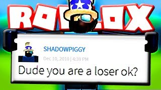 Reading Roblox messages from 2010! (7 YEARS OLD!)