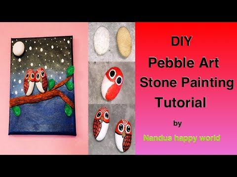 Pebble Art | Painting Stones | Rock Painting Tutorial For Beginners | stone Painting thumbnail
