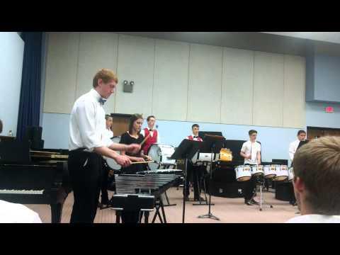 Moundridge High School percussion ensemble