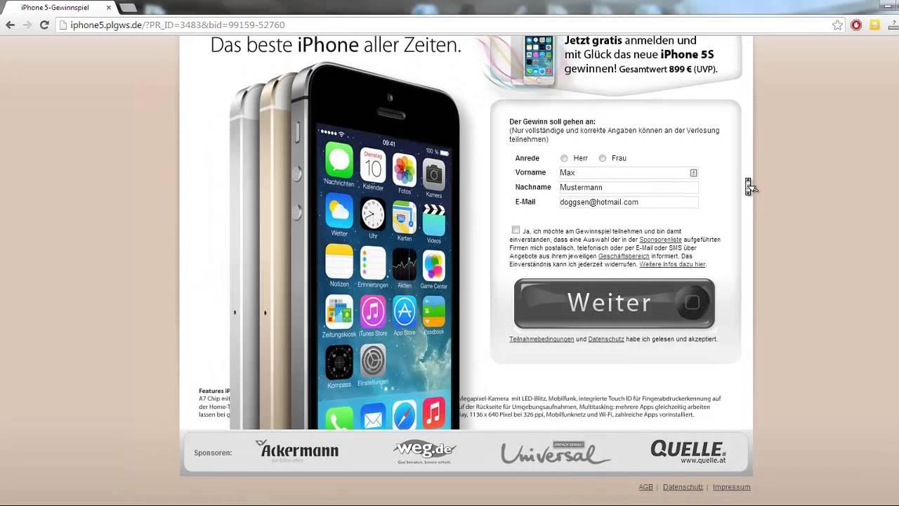 Iphone Gewinnspiel