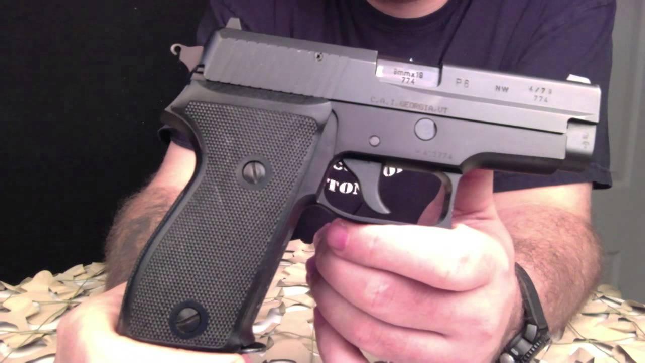 New Sig Sauer >> Sig Sauer P225 P6 9mm German Sem-Auto Carry Pistol - Texas Gun Blog - YouTube
