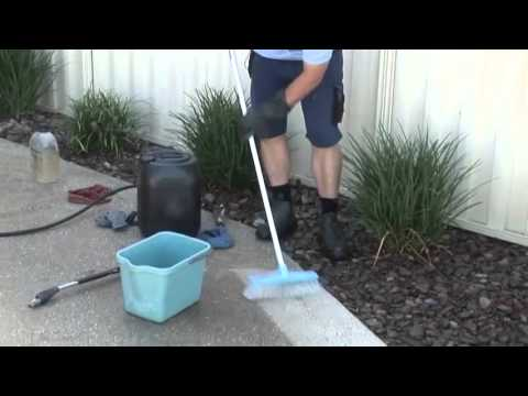 let 39 s go cleaning how to clean rock stains from concrete. Black Bedroom Furniture Sets. Home Design Ideas