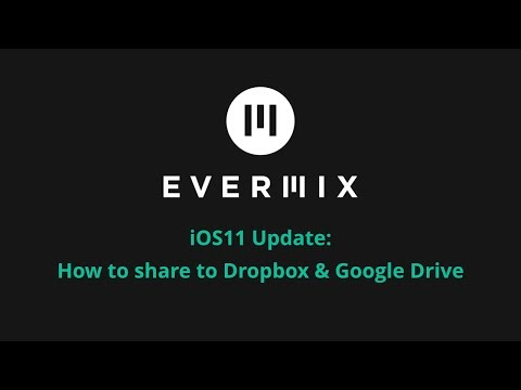 Evermix DJ App: How To Access Share Features such as DropBox & Google Drive on iOS11