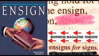 'Ensign'? Mormon Voice Coming Through the King James Bible (Mandela Effect Bible Changes)