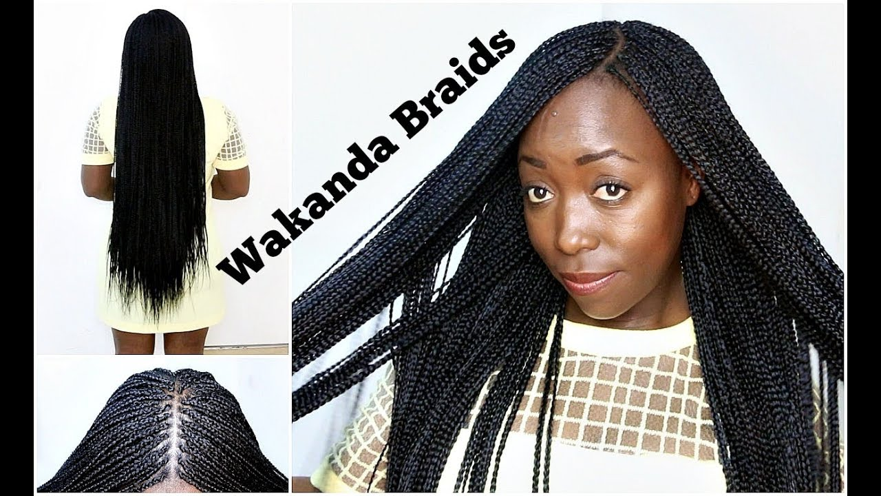 Black Hairstyles With Side Braids: How To Braid Your Own Hair With Side & Middle Part Step By