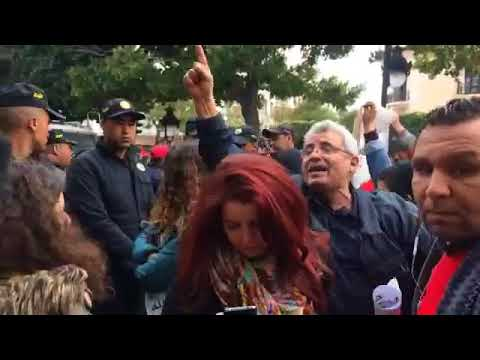 في تونس بعد منع مظاهرة لجنة التضامن التونسية من أجل إطلاق سراح جورج  عبد الله  يوم 01 فيفري 2018  - 20:23-2018 / 2 / 1