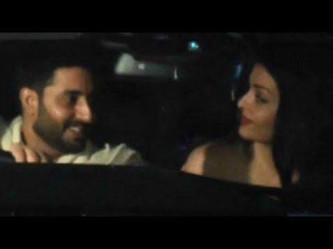 Aishwarya Rai And Abhishek Bachchan Caught Giving Fake Smile At Sarbjit Screening
