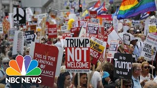 Tens Of Thousands Pack London Streets To Protest President Donald Trump Visit | NBC News