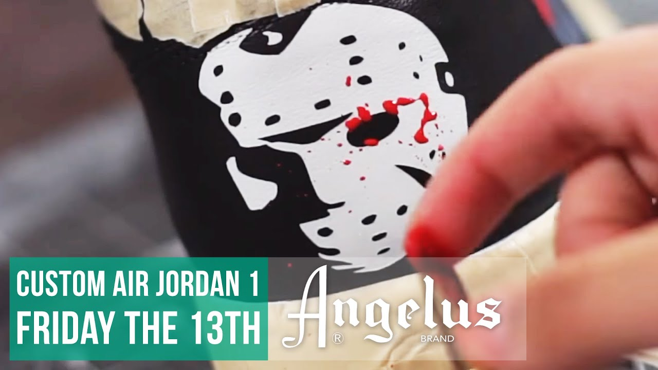sale retailer dfa7d e9b73 Friday the 13th Inspired | Customize Jordan 1's | Angelus Paint