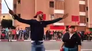 هذه الأثناء من مدينة العيون المغربية  نداء مسيرة الوطن