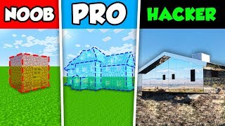 Minecraft NOOB vs PRO vs HACKER : INVISIBLE HOUSE CHALLENGE in Minecraft Animation!