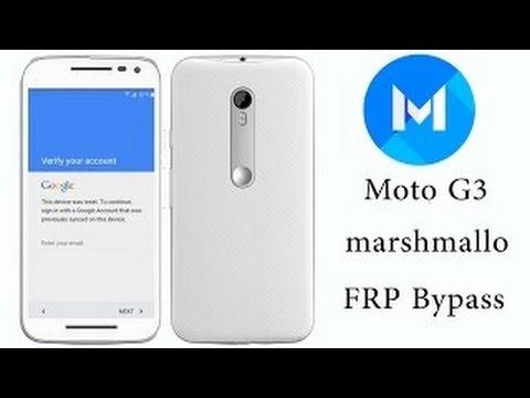 Frp Lock Moto G 3rd gen Google Account Bypass