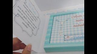 Montagem caixa  3 em 1 Convite Batizado