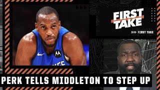 Perk expects Khris Middleton to average 30 and elevate his game if Giannis misses games   First Take