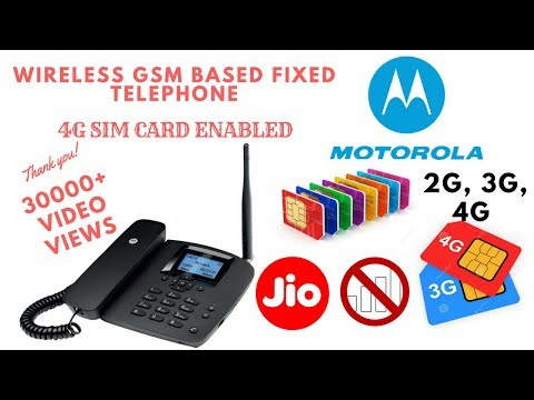 Motorola GSM SimCard Landline Phone - Unboxing and In-dept
