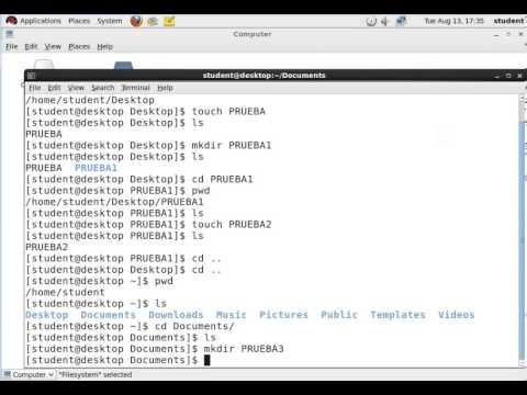 Comandos Basicos  de Terminal en Red Hat Enterprise Linux 6.0