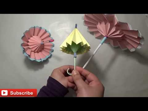 How to Make Beautiful Umbrella (origami Umbrella tutorial), DIY Paper crafts - Origami Umbrella