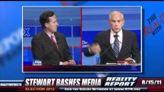 John Stewart on media bias and neglect over presidential candidate Ron Paul