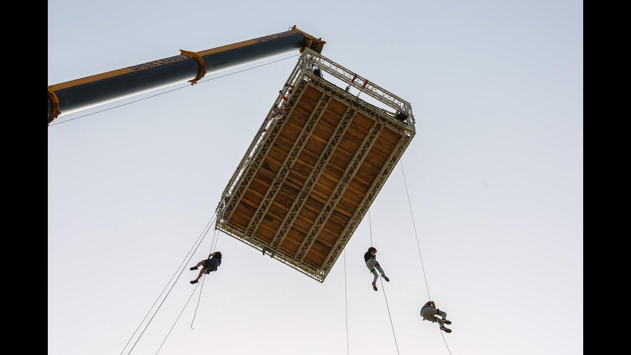אטרקציה בצפת, סנפלינג בגובה 50 מטר !!!