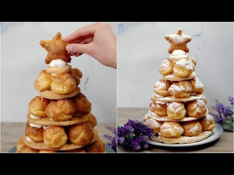 Cream puffs tree the perfect dessert for Christmas