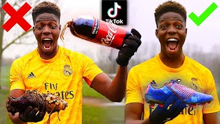 We Tested VIRAL TikTok FOOTBALL Life Hacks.. THEY WORKED! Shoot Like RONALDO, MESSI & POGBA