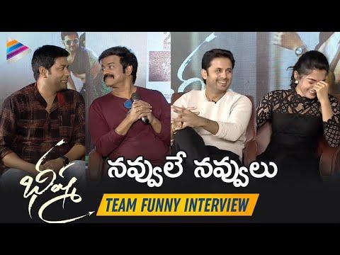 Bheeshma Team FUNNY Interview | Nithin | Rashmika Mandanna | Vennela Kishore | Brahmaji